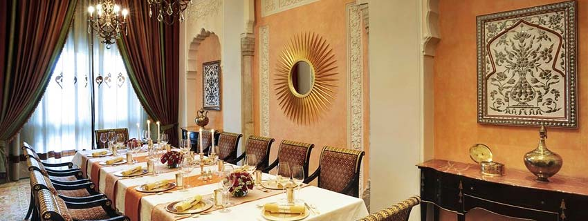 Dining Area at Taj Rambagh Palace in Jaipur