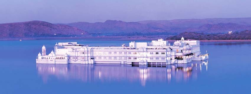 Outside View of Taj Lake Palace in Udaipur