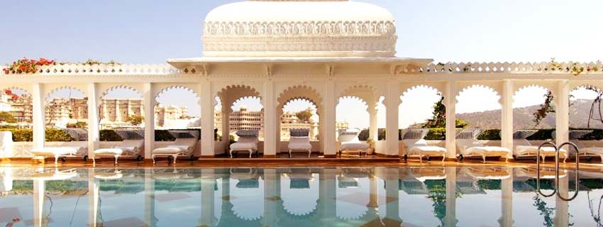 Pool View of Taj Lake Palace, Udaipur