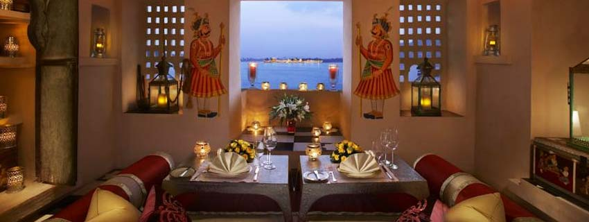 Dining Area at Leela Palace, Udaipur