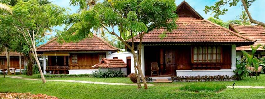 Outside View of Kumarakom Lake Resorts in Kerala