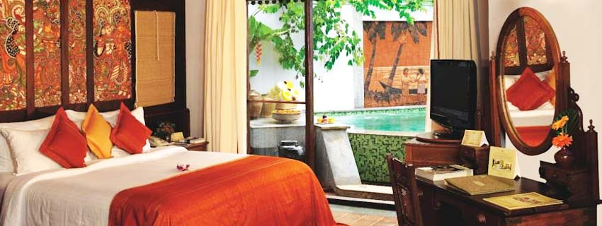 Rooms at Kumarakom Lake Resorts, Kerala