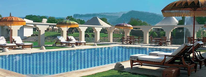 Swimming Pool at Oberoi Vanyavilas, Sawai Madhopur