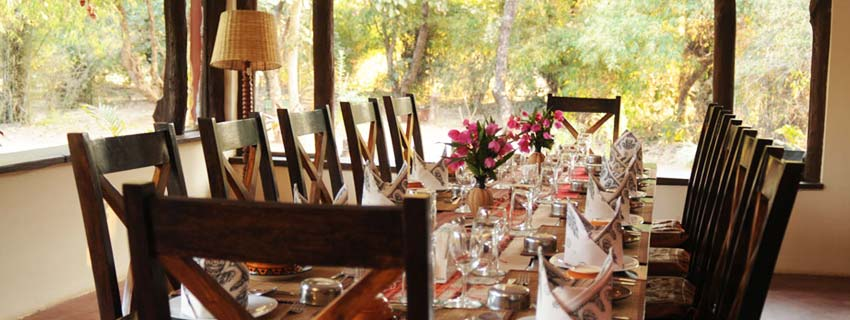 Dining Area at Jungle Lodge, Bandhavgarh National Park