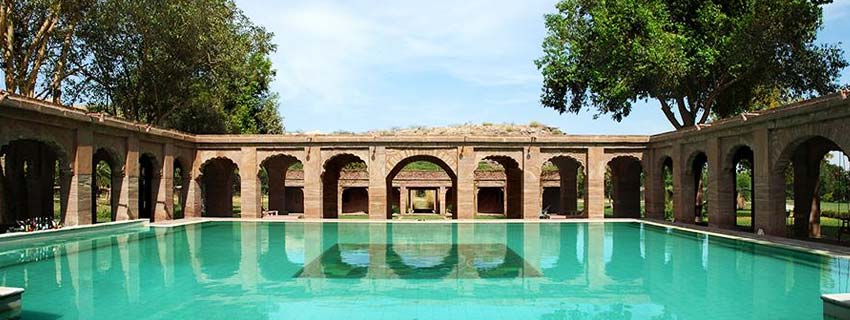 Swimming Pool at Balsamand Lake Palace, Jodhpur