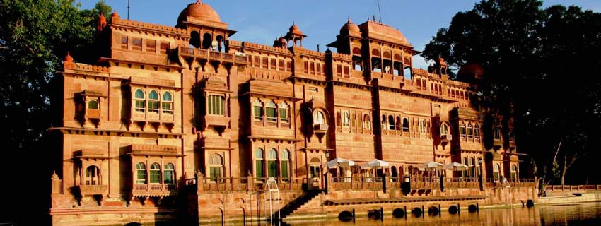 Outside View of Gajner Palace, Bikaner