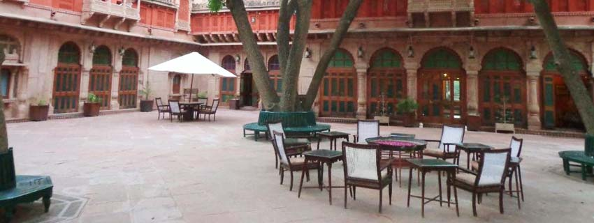 Open Air Restaurant at Gajner Palace, Bikaner