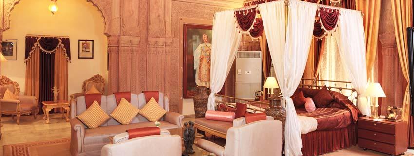Room at Laxmi Niwas Palace in Bikaner