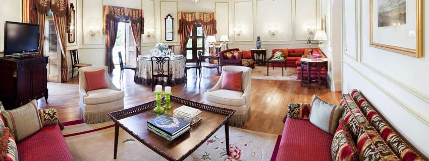 Sitting Area at Taj Falaknuma Palace, Hyderabad