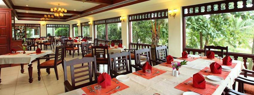 Restaurant at Fragrant Nature Retreat and Resort, Kerala