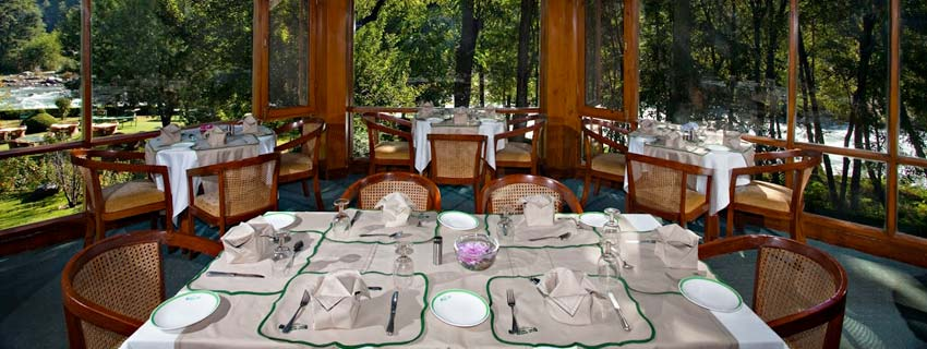Dining Area at Moksha Spa Resort, Himalayas