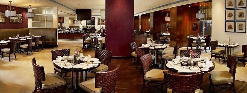 Restaurant at ITC Maurya in Delhi