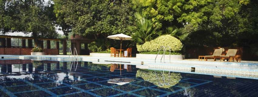 Poolside at Jaypee Palace Hotel and Convention Centre, Agra