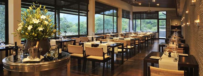 Restaurant at Hilton Shillim Estate Retreat and Spa in Pune