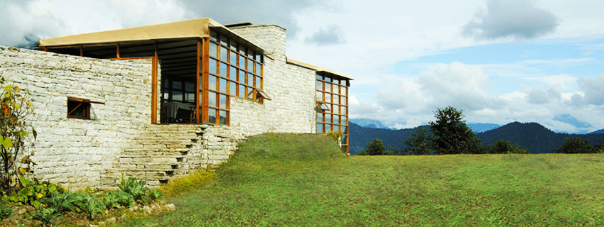 Outside View at Shakti 360 Degree Leti in the Himalayas