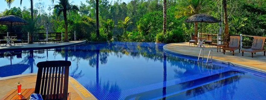 Swimming Pool at Orange Country,Coorg
