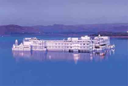 Taj Lake Palace in Udaipur, Rajasthan
