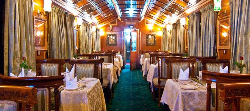 Dining at Palace on Wheels