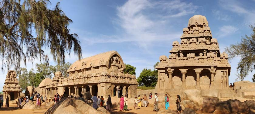 Five Rathas in South India