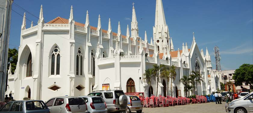 Santhome Cathedral Basilica Chrch in South India