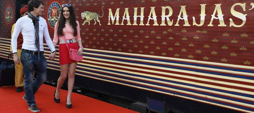 Outiside of Maharajas Express
