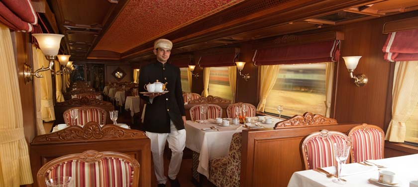Dining at Maharajas Express