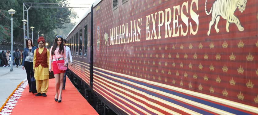 Guest Enters at Maharajas Express Train
